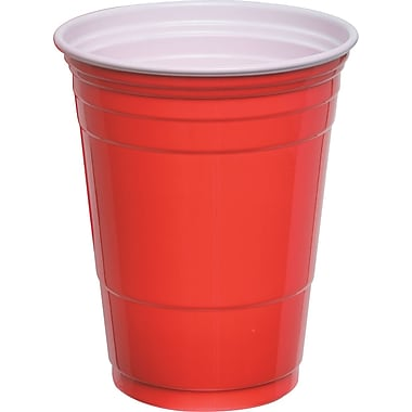 SOLO® Plastic Cold Party Cups, Red, 16 oz., 50/Pack
