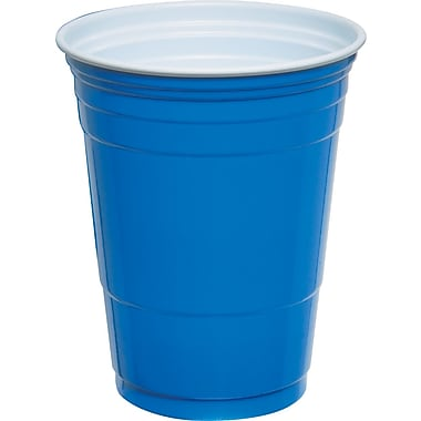 SOLO® Plastic Cold Party Cups, Blue, 16 oz., 50/Pack