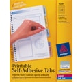 Avery® 1-3/4in. Assorted Color Printable Self-Adhesive Tabs