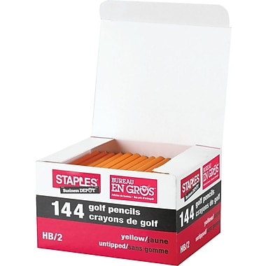 Staples® Golf Pencils, 144/Box