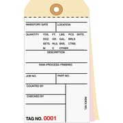 Staples® 3 Part Carbonless Numbered Inventory Tags: 1,000-1,499, 500/Case