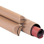 Staples® Kraft Crimped End Mailing Tubes - Bulk Packs