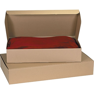 Staples Kraft Corrugated Garment Mailers, 24-1/2in. x 14-1/4in. x 4-1/2in.