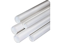 Staples® White Mailing Tubes, 1-1/2' x 24'