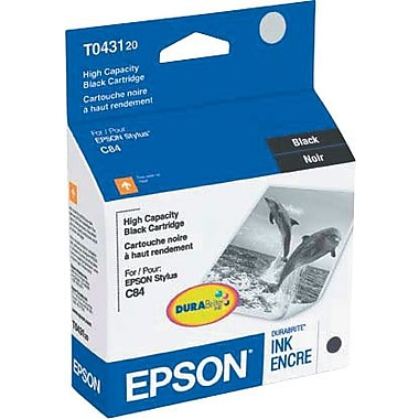 Epson 43 Black Ink Cartridge (T043120), High Yield