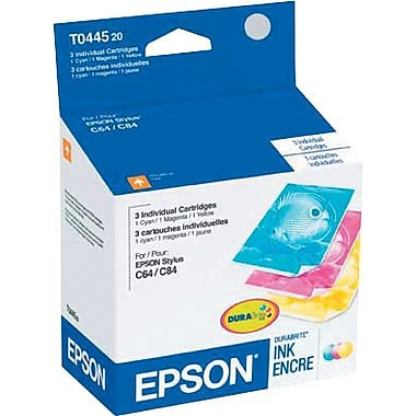 Epson® 44 (T044520-S) Cyan, Magenta and Yellow Ink Cartridges, Combo Pack