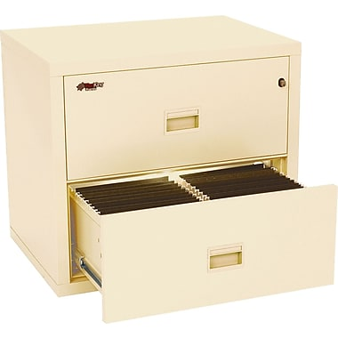 FireKing 1-Hour 31in. Compact Turtle Fire Resistant Lateral File Cabinets, Parchment