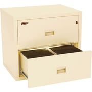 FireKing 1-Hour 2-Drawer Fire Resistant Compact Turtle Lateral File Cabinet, Inside Delivery