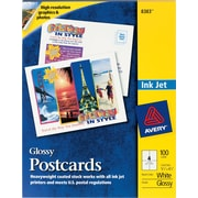 "Avery® Inkjet Postcards, 5 1/2"" x 4 1/4"" Glossy Finish"