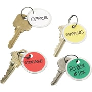 Avery® Metal Rim Tags with Metal Key Ring, Assorted, 1 1/4 Diameter