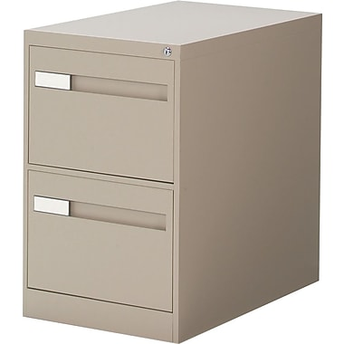 Global® 2800 Series Premium Vertical Legal File Cabinet, 2-Drawer, Sand
