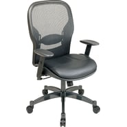Space Seating Mesh/Leather Mid-Back Managers Chair
