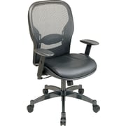 Space Seating® Mesh/Leather Mid-Back Managers Chair