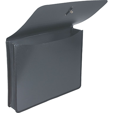 Staples Poly Expanding Wallets, Letter, 5in. Expansion, Black, Each