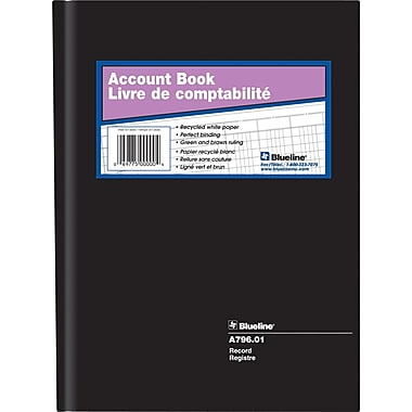 Blueline® A-796.01 Record Book, 200 Pages, 10-1/4