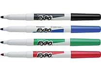 Expo® Fine Tip Dry-Erase Markers, Assorted, 4/Pack