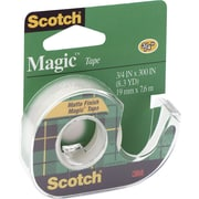 "3M Scotch® Magic™ Tape with Refillable Dispenser, 3/4"" x 300"", 1"" Core"