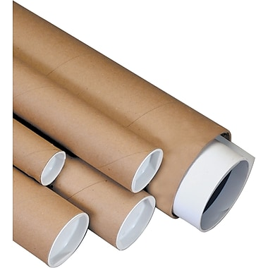 Staples Heavy-Duty Kraft Mailing Tubes, 4in. x 60in.