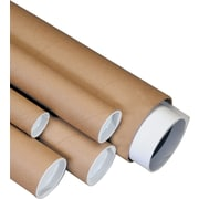 Staples® Kraft Mailing Tubes, 2-1/2 x 12, 34/Case