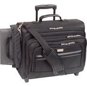 Solo Classic Rolling Overnighter Laptop Case, Black (B64-4)