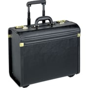 SOLO® Leather-Look Rolling Catalog Case, Black, 15.4
