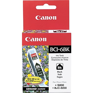 Canon BCI-6BK Black Ink Cartridge (4705A003)