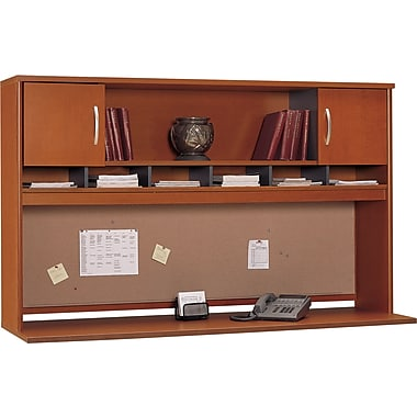 Bush Westfield 72in. 2-Door Hutch, Autumn Cherry/Graphite Gray