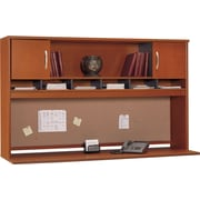 Bush Business Westfield 72W 2 Door Hutch, Autumn Cherry/Graphite Gray