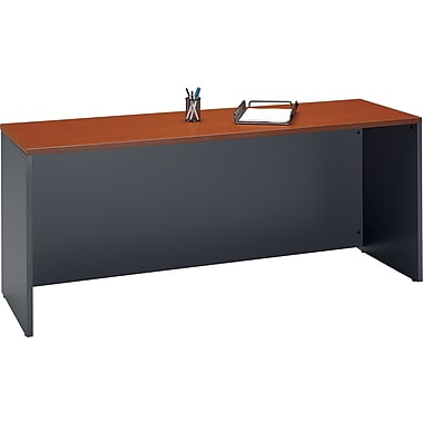 Bush Westfield 72in. Managers Desk, Autumn Cherry/Graphite Gray