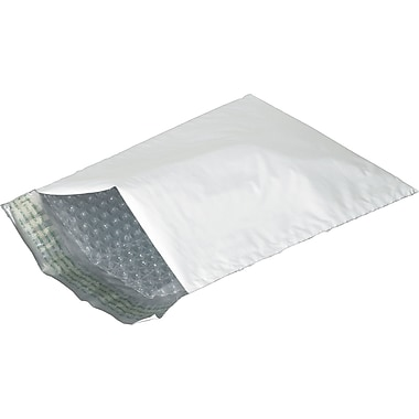 Staples® QuickStrip Poly Bubble Mailers, 8-1/2in. x 14-1/2in., 25/Case