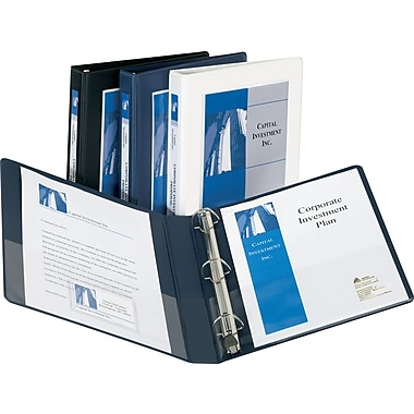 1/2in. Avery® Frame View Binders with Slant-D Rings