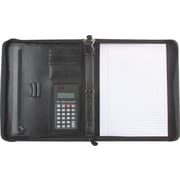 Buxton® Zip-Around Leather Padfolio with Calculator