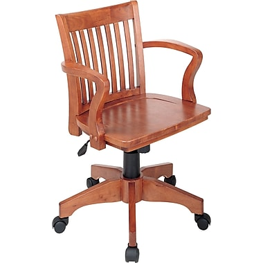 Office Star™ Wood Banker's Chair, Fruitwood Finish
