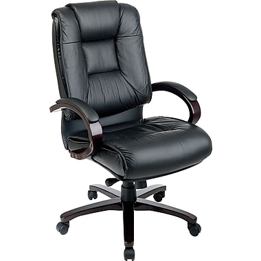 fice Star Leather Executive fice Chair Fixed Arms
