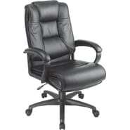 Office Star™ Leather Executive High-Back Chair, Black