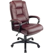 Office Star™ Leather Executive High-Back Chairs, Burgundy