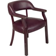 Office Star™ Burgundy Traditional Guest Chair (without casters)