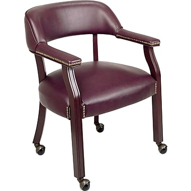 Office Star™ Burgundy Traditional Guest Chair (with casters)