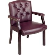 Office Star™ Burgundy Traditional Guest Chair, Closed Back