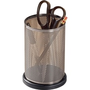 Distinctions™ Punched Gunmetal and Black Wood Jumbo Pencil Holder
