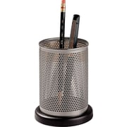 Distinctions™ Punched Gunmetal and Black Wood Pencil Holder