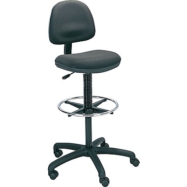 Safco® Precision Black Vinyl Drafting Swivel Stools - Adjustable Foot Ring