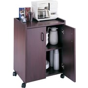 "Safco Mobile Refreshment Center, 31""H x 23""W x 18""D, Mahogany"