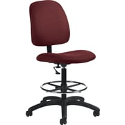Global Goal® Ergonomic Fabric Drafting Chair, Ruby