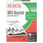 Xerox® <span style=color:green>100% Recycled</span> Multipurpose Paper, 8 1/2 x 11, Ream