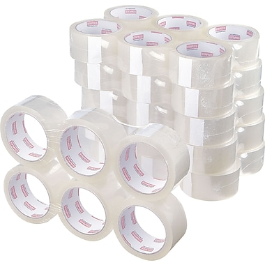 Staples® Standard-Grade Packaging Tape, Clear, 1.89in. x 54.7 yds, 36 Rolls