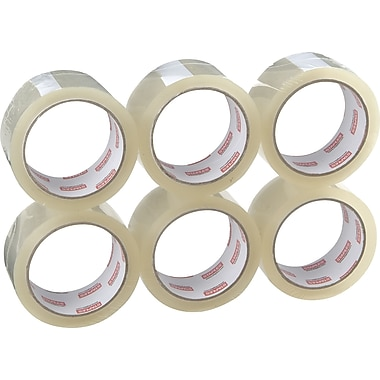 Staples® Standard-Grade Packaging Tape, Clear, 3in. x 54.7 yds, 6 Rolls