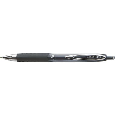 uni-ball® 207™ Retractable Gel-Ink Pens, Medium Point, Black, 4/Pack