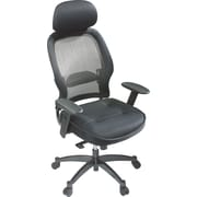 Office Star Black High-Back Mesh Executive Chair, Adjustable Arms