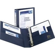 5 Avery® Heavy-Duty View Binder with One Touch™ EZD® Rings, Navy Blue